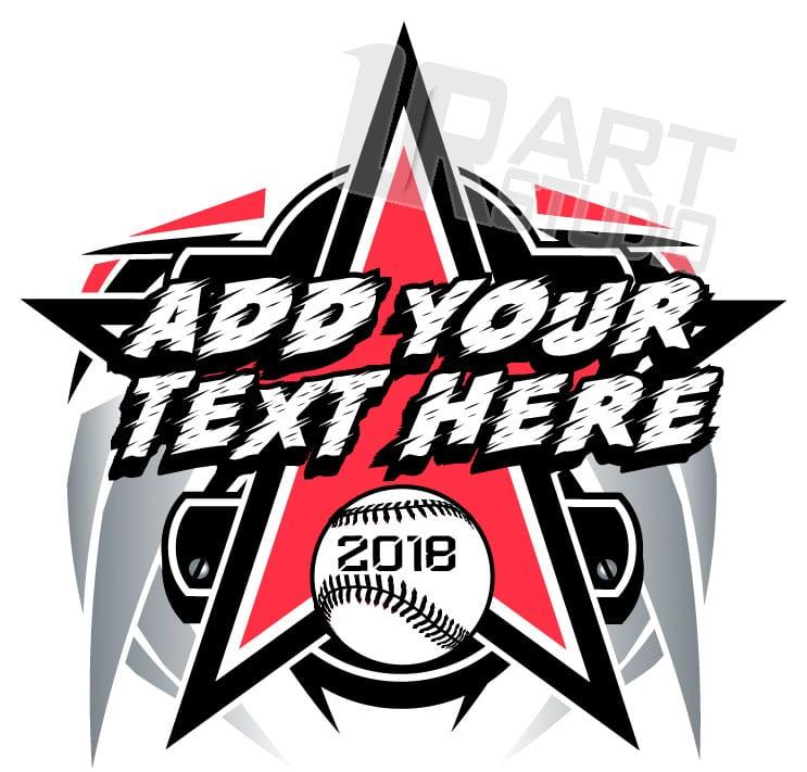 BASEBALL t-shirt logo design with adjustable text URARTSTUDIO