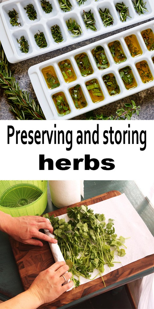 Preserving and storing herbs