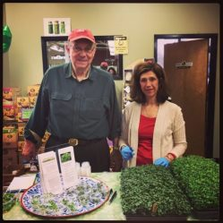 Brud Hodgkins, founder of Indoor Organic Gardens of Poughkeepsie, and wife Lori