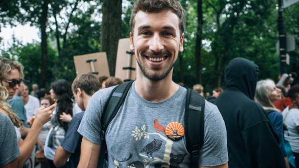 Henry Gordon-Smith at the Climate March