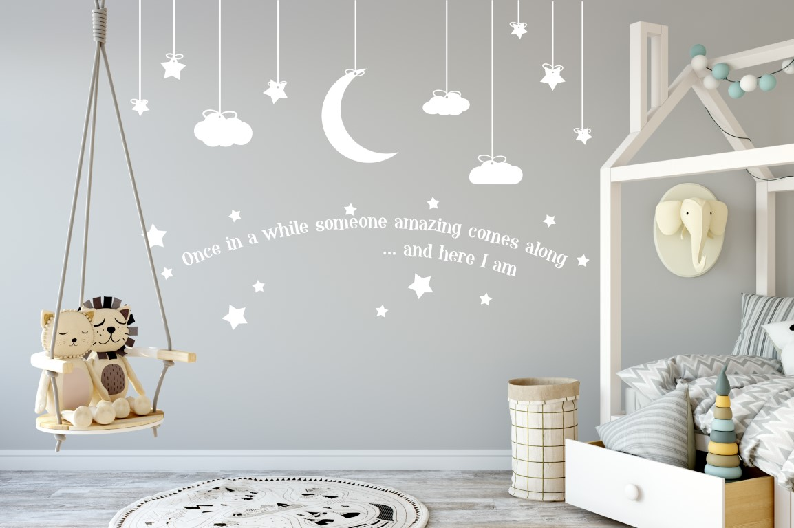 Stars Room Decor Nursery Sticker Nursery Wall Decor Childrens Sticker Childrens Wall Decor Baby Sticker Baby Room Decor Nursery Wall Sticker Nursery Stickers
