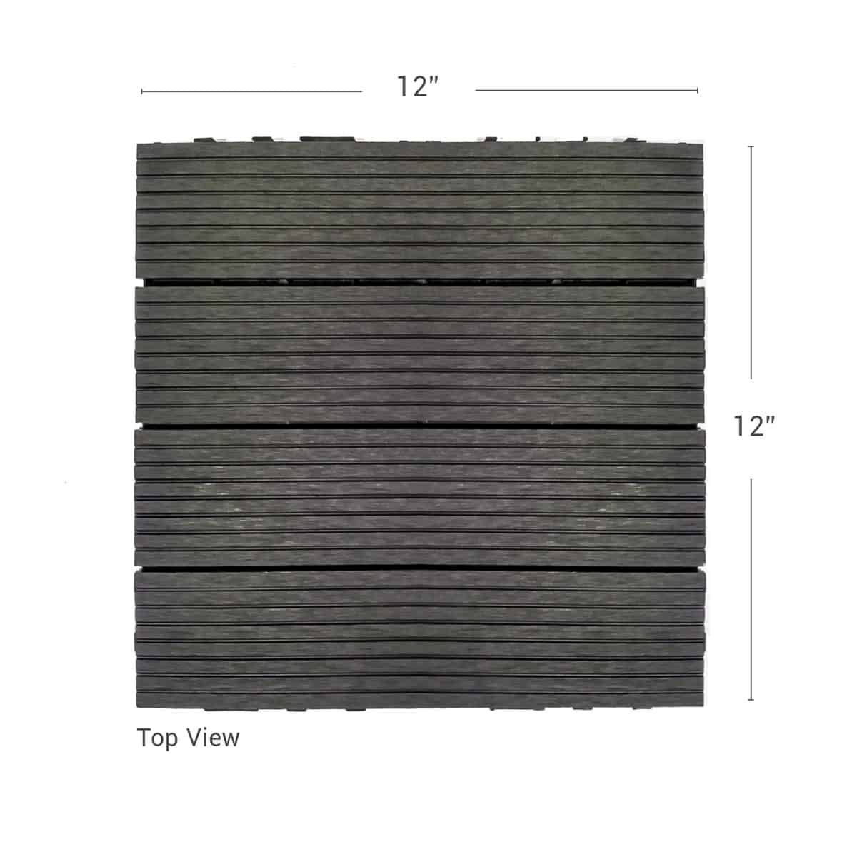 Composite Deck Tiles Wood Plastic Composite Wpc Deck Tiles Charcoal Urban