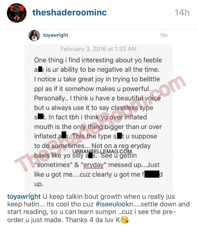 K Michelle and Toya Wright Resume Social Media Beef K Michelle And Toya Beef