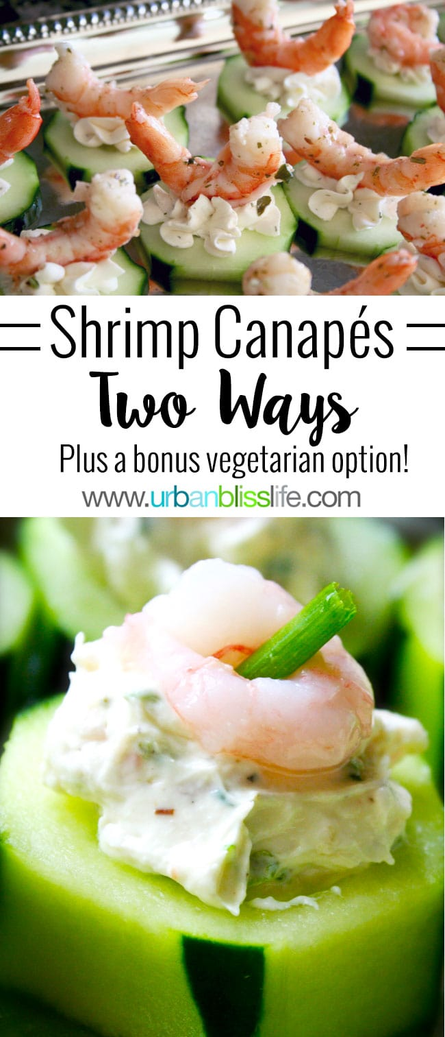 Canape Design Hawaii Food Bliss Easy Entertaining Shrimp Cucumber Canapés Two Ways