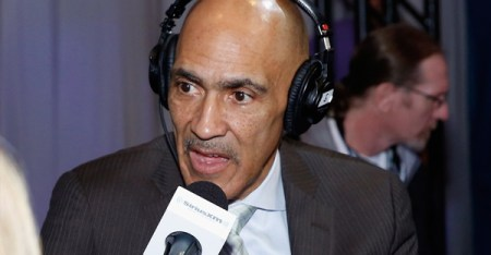 Former NFL head coach Tony Dungy attends SiriusXM at Super Bowl XLIX Radio Row at the Phoenix Convention Center on January 30, 2015 in Phoenix, Arizona. (Cindy Ord/Getty Images North America)