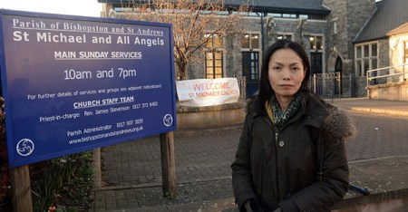 Yoga Teacher Naomi Hayama who has been stopped from holding classes at at St Michael and All Angels Church (SWNS)