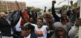 "Cheers of ""Justice!"" Spread Through Baltimore After Prosecutor Announces Charges for 6 Police Officers"