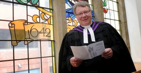 Outgoing Presbyterian moderator Michael Barry. He will be replaced by Rev Dr Ian McNie of Trinity Presbyterian Church in Ballymoney, Co Antrim. (Colm Lenaghan/Pacemaker)