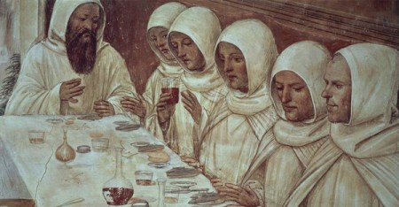 """A detail from """"Life of St Benedict"""" (1505), a fresco by Antonio Bazzi, known as Il Sodoma (1477-1549), at the Abbey of Monte Oliveto Maggiore, Siena, Italy. (GETTY IMAGES/DEAGOSTINI)"""