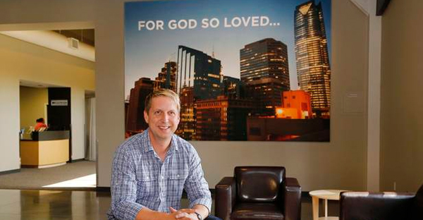 Bobby Gruenewald, Life.Church pastor-innovation leader, poses for a photo at the church's headquarters in Edmond. (Photo by Jim Beckel, The Oklahoman)