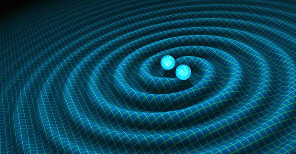 An artist's depiction of gravitational waves like the 'ripples in the fabric of space-time' posited by Albert Einstein. (PHOTO: EUROPEAN PRESSPHOTO AGENCY)