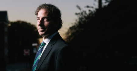 State Senator Jamie B. Raskin, a law professor, said the atheist ban in the Maryland Constitution was inconsistent with the state's history. (Lexey Swall for The New York Times)
