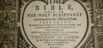 A Curious College Student Unearthed This Centuries-Old Geneva Bible