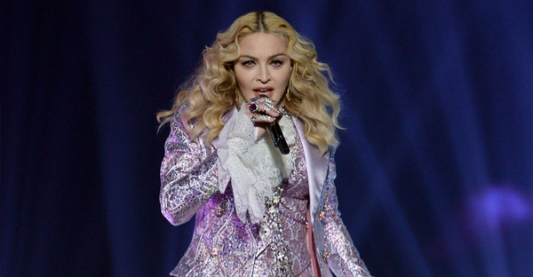 Recording artist Madonna performs a tribute to Prince onstage during the 2016 Billboard Music Awards at T-Mobile Arena on May 22, 2016 in Las Vegas, Nevada. (Kevin Winter/Getty Images North America)