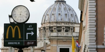 McDonald's Near the Vatican to Give Free Meals to the Homeless