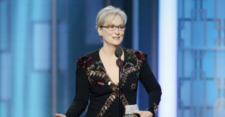In this handout photo provided by NBCUniversal, Meryl Streep accepts Cecil B. DeMille Award during the 74th Annual Golden Globe Awards at The Beverly Hilton Hotel on January 8, 2017 in Beverly Hills, California. (Getty Images North America)