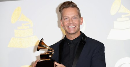 Songwriter Bernie Herms, co-winner of Best Contemporary Christian Music Performance/Song for 'Thy Will' (Hillary Scott & The Scott Family), poses in the press room during The 59th GRAMMY Awards at STAPLES Center on February 12, 2017 in Los Angeles, California. (Frederick M. Brown/Getty Images North America)