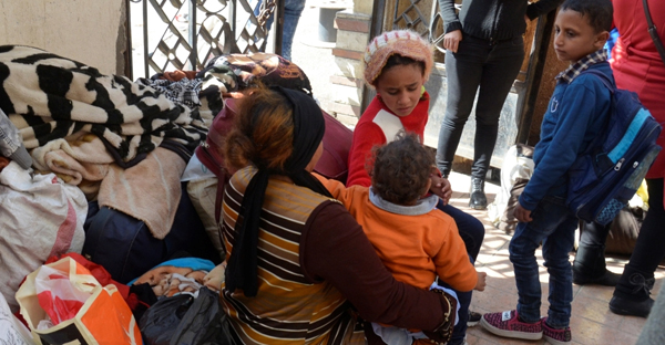 At least 90 Coptic families have reached the Ismailiya governorate (Ahmed Aboulenein/Reuters)