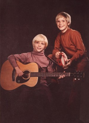 "Steven Curtis Chapman, left with brother Herbie in their early music days. Photo from ""Between Heaven and the Real World"" by Steven Curtis Chapman with Ken Abraham. / Image courtesy of Revell, a division of Baker Publishing Group"