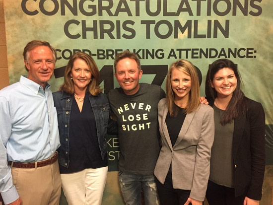 Photo left to right: Governor Bill Haslam, First Lady Crissy Haslam, Chris Tomlin, Kristen Allender (State Director for Tennessee's Kids Belong), Laura Doherty (Director of Communications for America's Kids Belong)