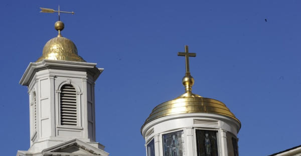 St. John's Church, across from Lafayette Square, has been home to several U.S. presidents. (Sarah L. Voisin/The Washington Post)