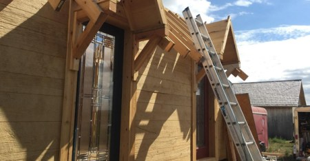 The Rev. John Floberg's two Episcopal congregations in Sioux County, North Dakota, are building tiny homes that will share the church lot. (Provided by the Rev. John Floberg)