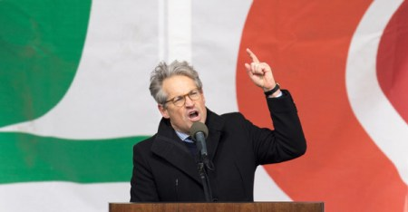 Eric Metaxas at the March for Life in Washington, D.C., in January. (Credit: Tasos Katopodis/Agence France-Presse — Getty Images)