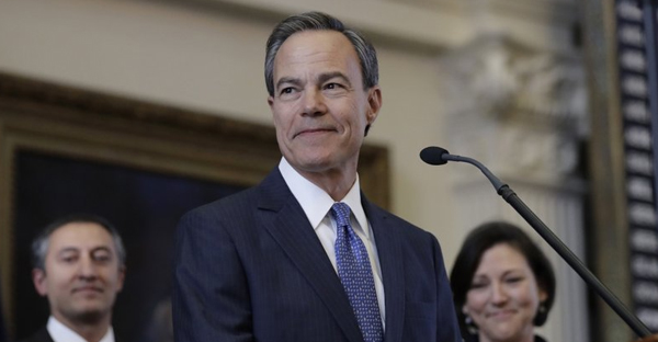 In this Jan. 10, 2017, file photo, Texas Speaker of the House Joe Straus, R-San Antonio, stands before the opening of the 85th Texas Legislative session in the house chambers at the Texas State Capitol in Austin, Texas. (AP Photo/Eric Gay, File)