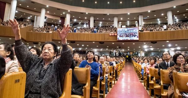 Yoido Full Gospel Church began in 1958 and grew by serving poor and working class South Koreans who moved to the capital city of Seoul. Today, it's largest megachurch in the world. (Credit: Steve Smith)