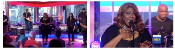 Mandisa performs on ABC's Good Morning America.