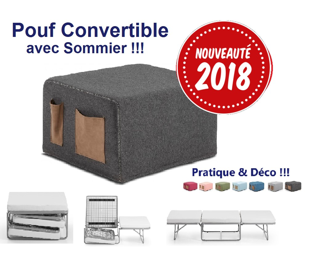 Sommier D Appoint Pouf Convertible Vrs