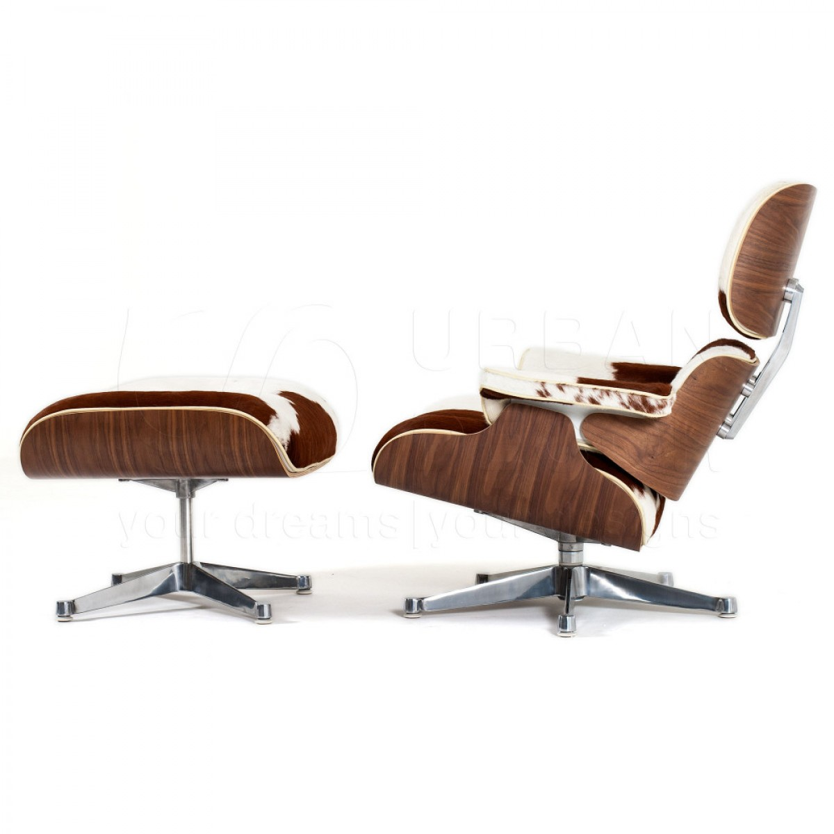Eames Chair India Walnut Pony Lounge Chair And Ottoman