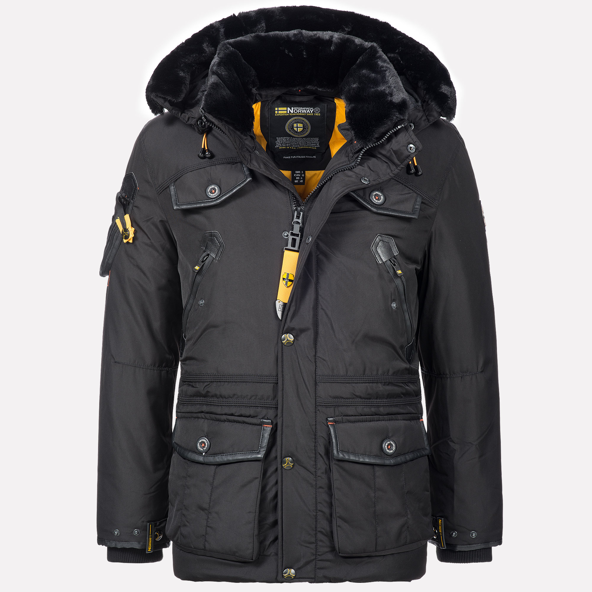 Ebay Gutschein Jacken Details Zu Geographical Norway Herren Luxus Parka Outdoor Sehr Warm Winter Jacke Ski Mantel