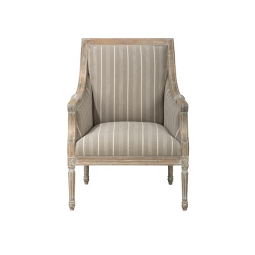 Sessel Taupe The Lenore Chair - Taupe Stripes