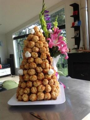 French flared Wedding cake   Urban Escargot Wedding Catering