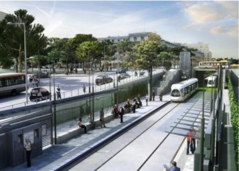 tram t4 Lyon Dbut des travaux pour le prolongement du T4  Lyon 