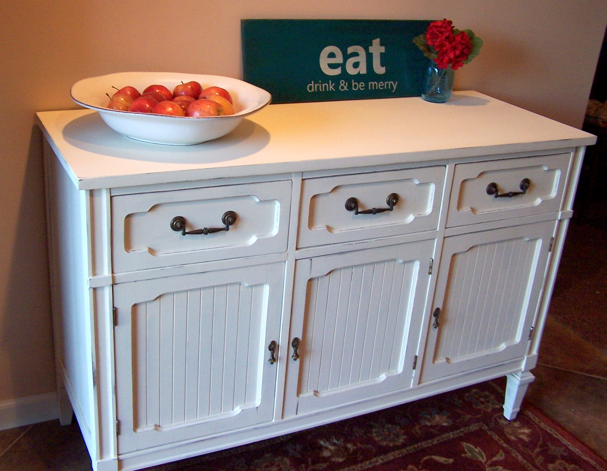 Old White Sideboard Buffet Urban Farmhouse Finishes - Sideboard Antik