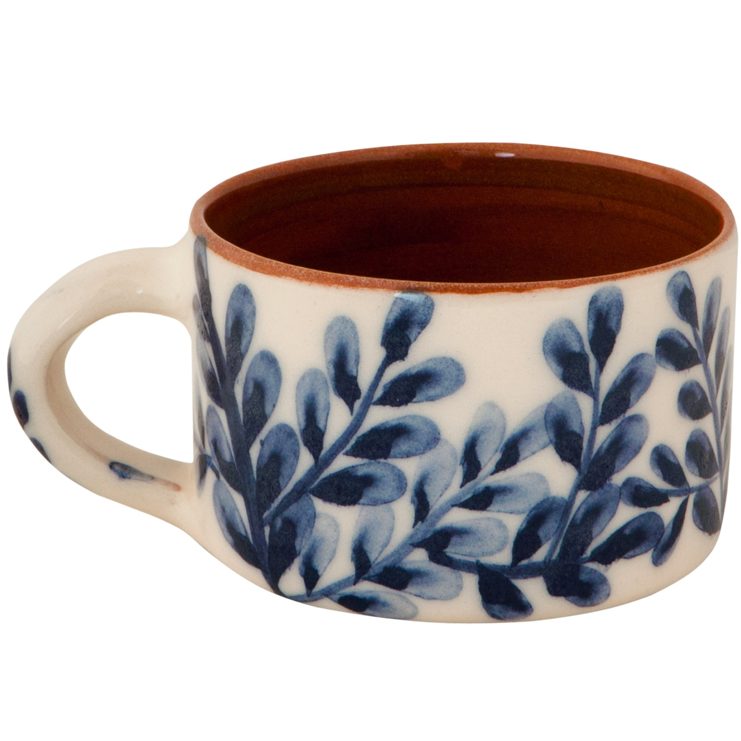 Unique Pottery Coffee Mugs Handmade Pottery Coffee Mugs With Blue And White Flowers