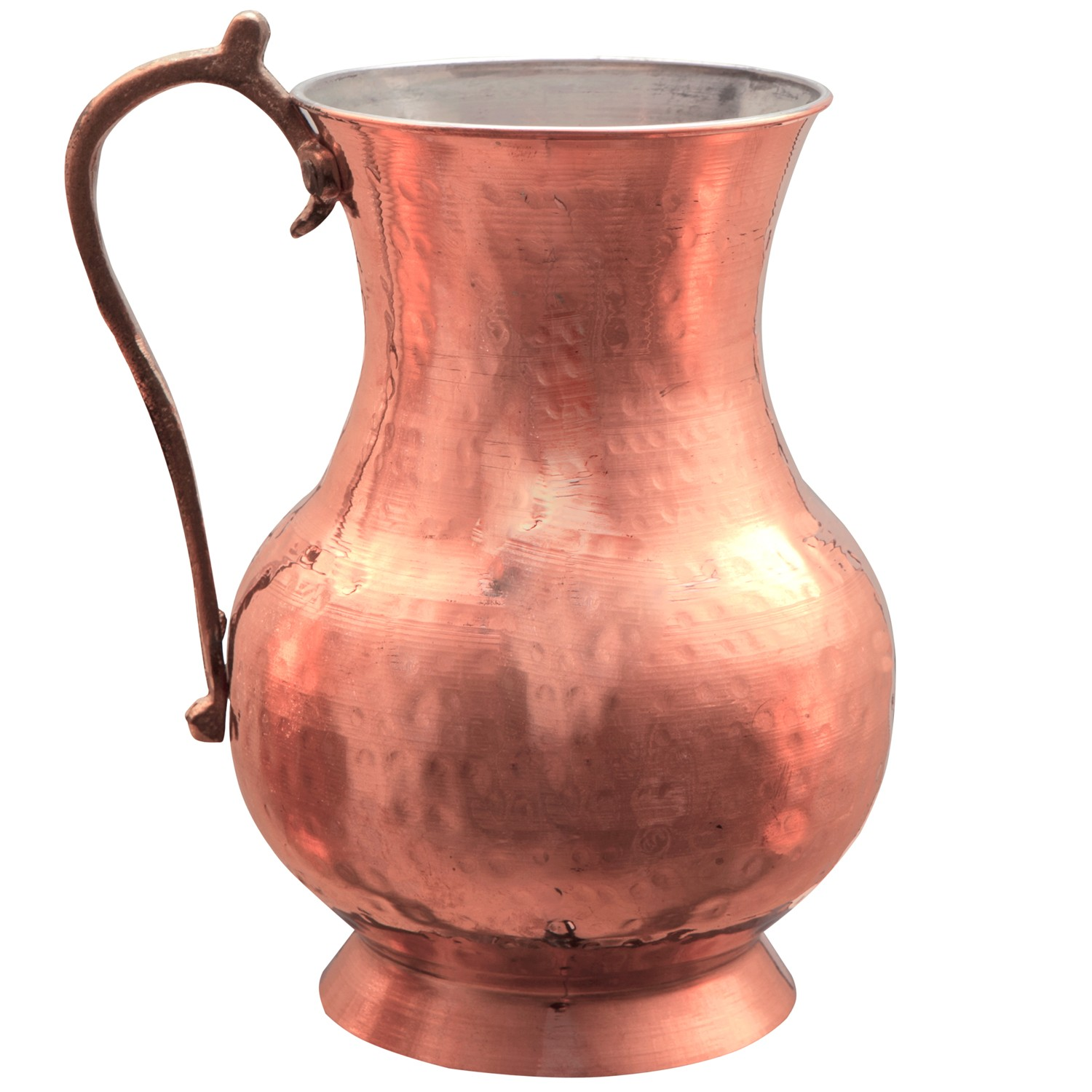 Pitchers Jugs Hammered Copper Water Jug H 16cm