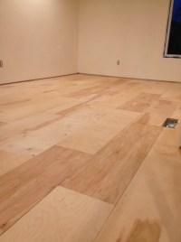 Plywood Flooring Installation | urban home INDY