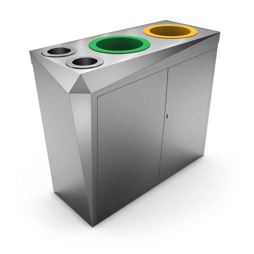 Stainless Steel Recycling Bins Premier Waste Recycling Bin Stainless Steel Design And Cups Cans
