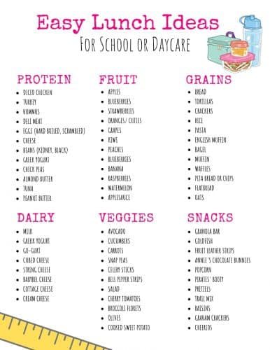 12 On the Go Toddler Lunch Ideas for Daycare or Preschool · Urban