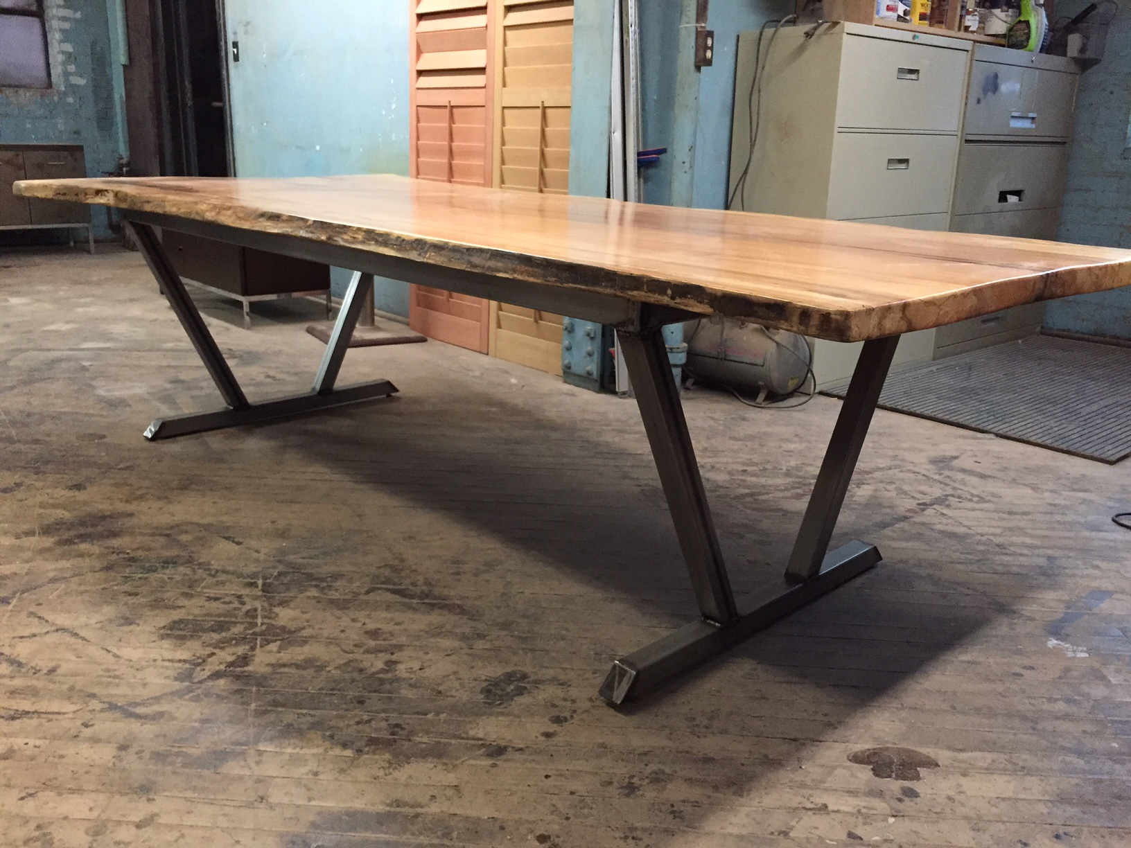 Metal Table Custom Bases Urban Timber