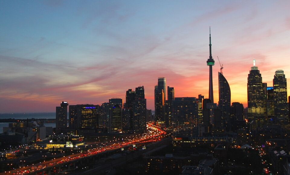 New York Fall Hd Wallpaper Photo Of The Day Sunset From The East Urban Toronto