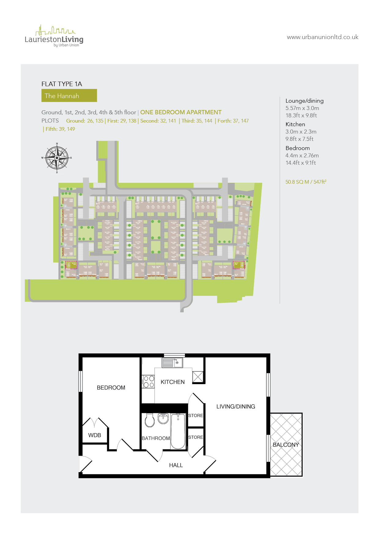 1 Bed Flat Glasgow Laurieston Living Urban Union Developments