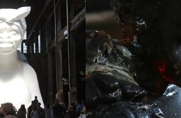 Kara Walker sphinx boy split screen