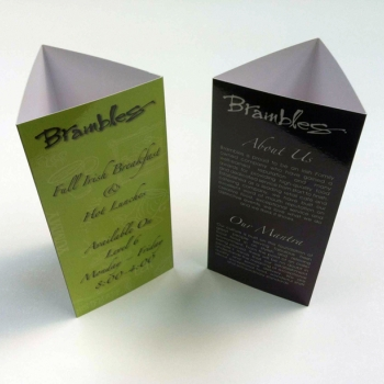 Custom Tent Cards Are Stand Up Marketing Tools - tri fold table tent