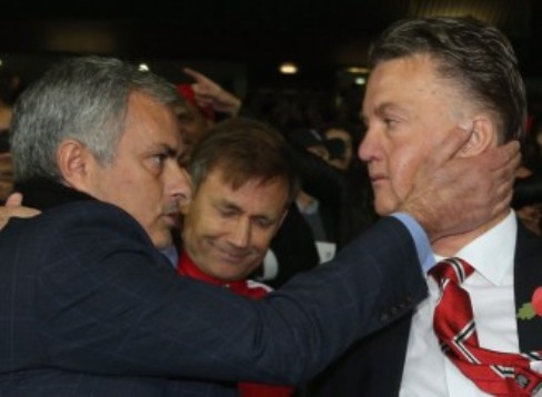 Van Gaal Rubbishes Report of Mourinho's Moves to Man United