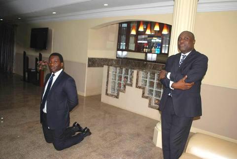Election Funding: Zenith Bank Executive Directors  Storm Ekiti, 'Begs' Fayose (PHOTOS)