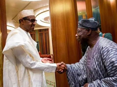 Revealed: What Obasanjo Discusses With Buhari During His Visit to Presidential Villa